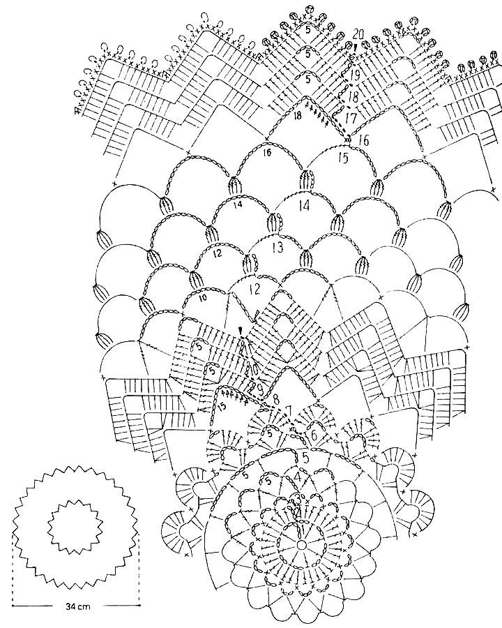 Схемы вязания крючком салфеток ажурное вязание 767