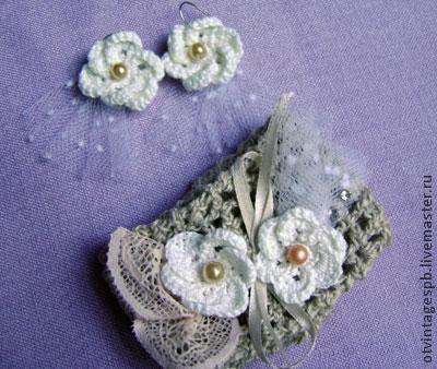 Объемный цветок крючком, фото № 14