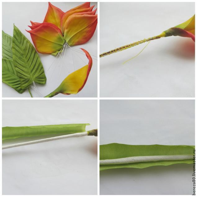 Создание простого и очень красивого цветка &8211 каллы из шелка, фото № 9