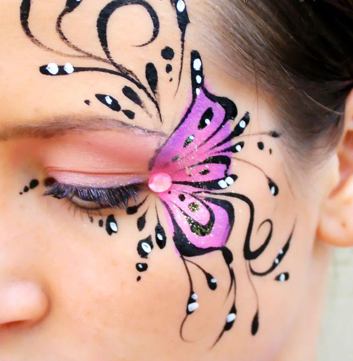 2 glitter butterfly