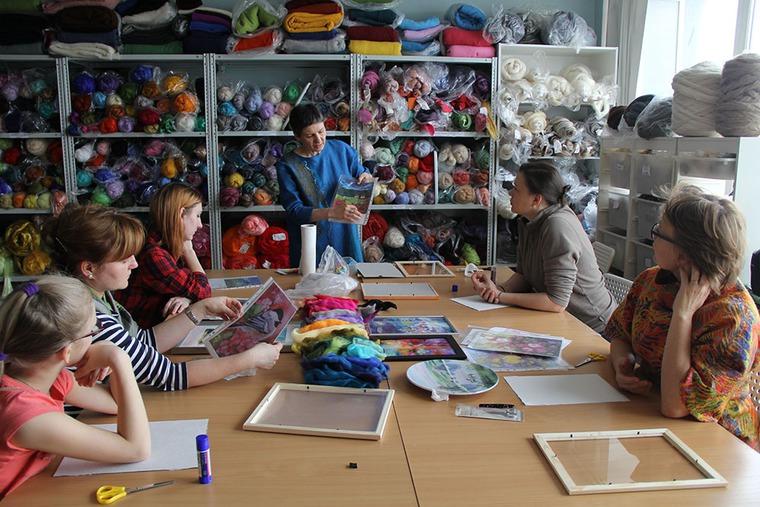 Отчет о мастер-классе Елены Панасик по живописи шерстью 19 марта, фото № 3