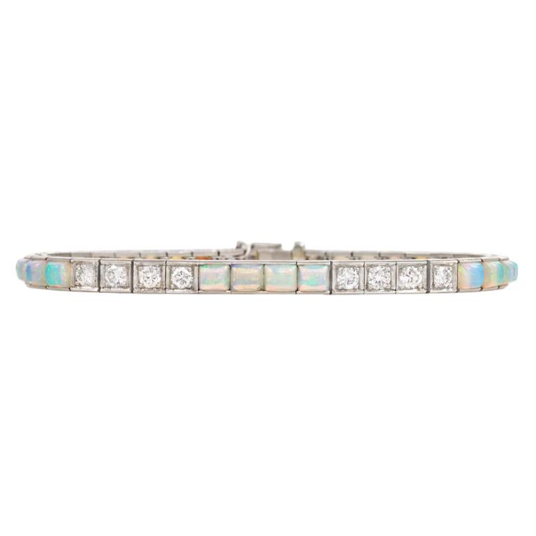 Edwardian Алмаз и Opal линия браслет