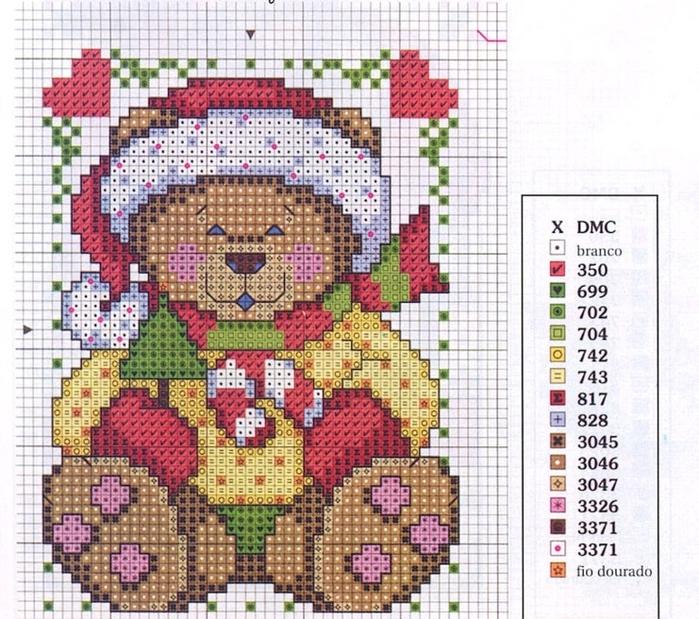 Схемы вышивки на новогоднюю схему 296