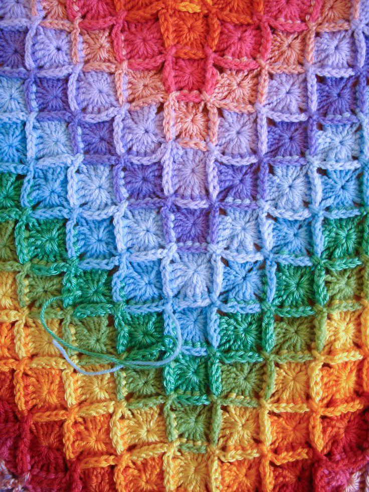 Bavarian Crochet Blanket (Wool Eater Stitch) | Mad Mad me