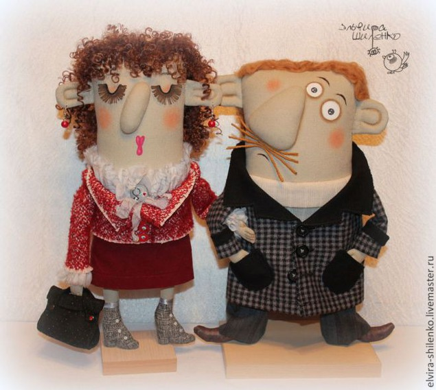 Текстильные авторские куклы