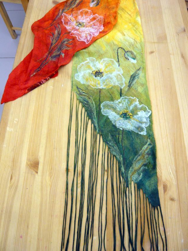шарфы на шелке