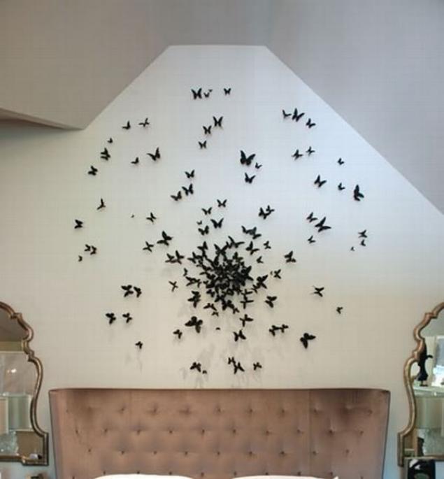 Украшение интерьера бабочки