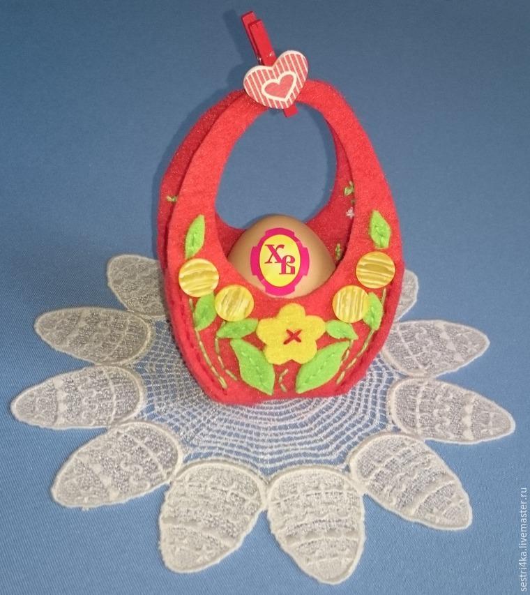 Делаем корзиночку для пасхального яйца из фетра, фото № 10
