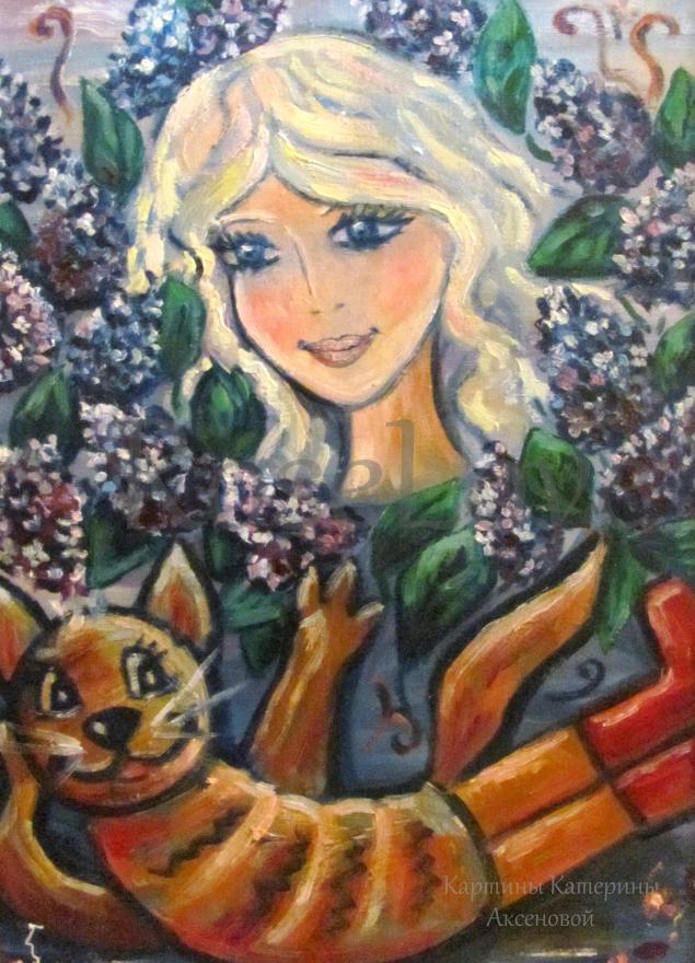 картина, картина в подарок, картина в детскую, картина для интерьера, картина маслом, фея, кот, сказка, добро