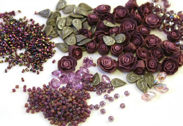 цветочные серьги, сборка украшения