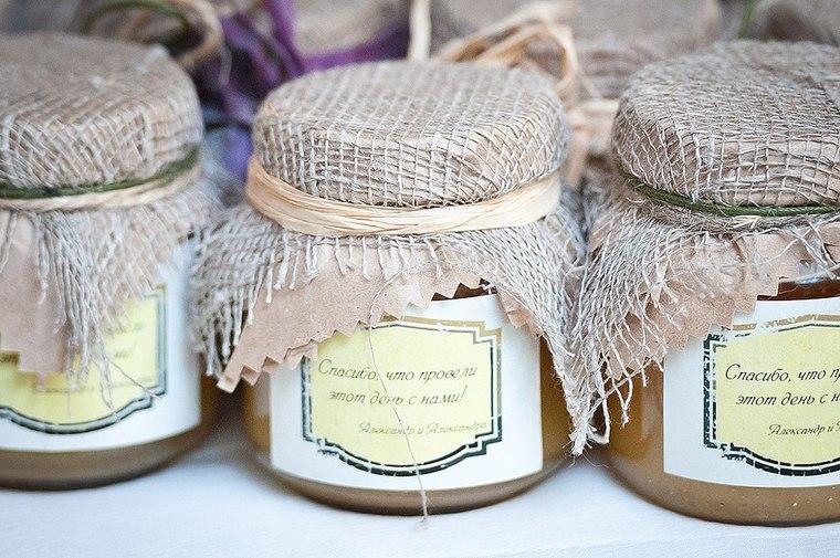 Баночки с медом на свадьбу своими руками 73