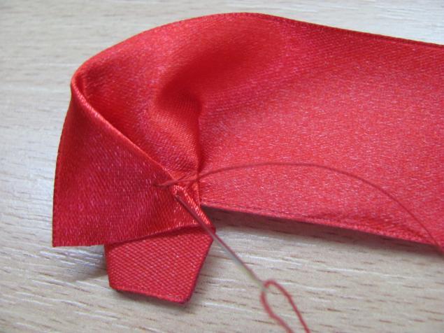 Вышивка лентами маки из атласных лент