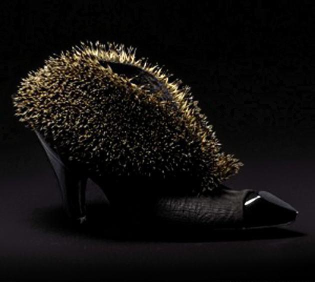туфли, чучело животного, шокирующая обувь