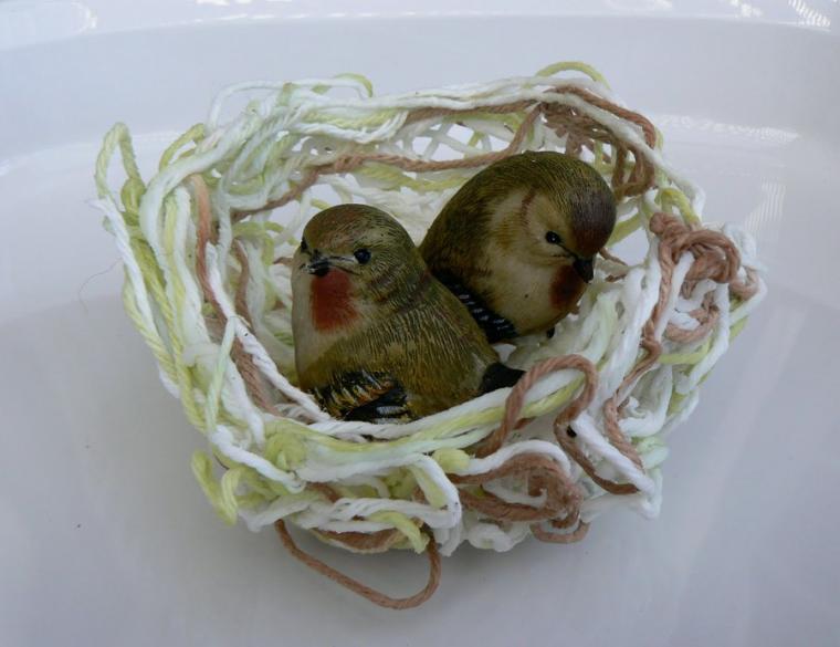 Гнездо в птицами своими руками