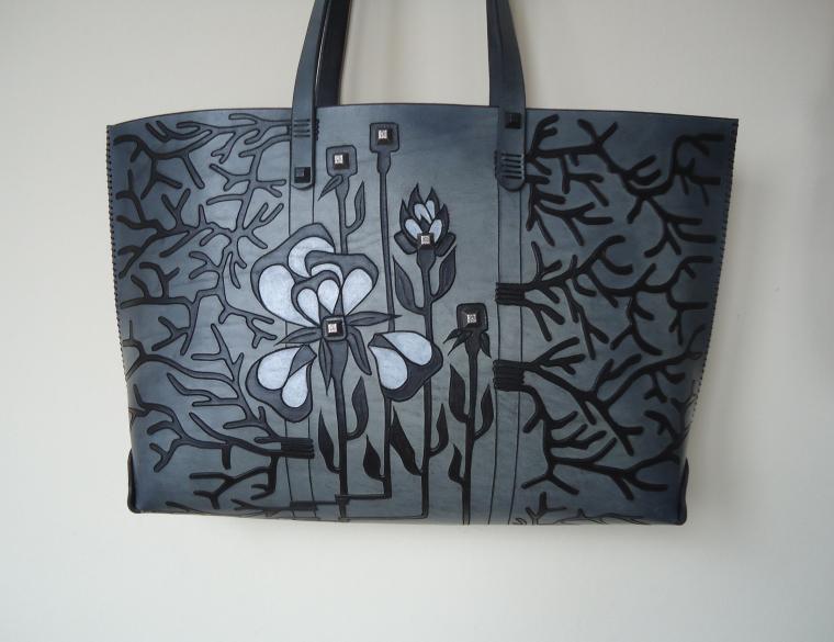 сумка, сумка из натуральной кожи, черный