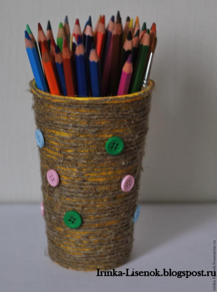Карандашница из карандашей своими руками из 62