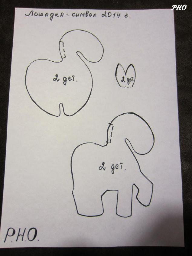 Шьём лошадок - символ 2014 г. 51923