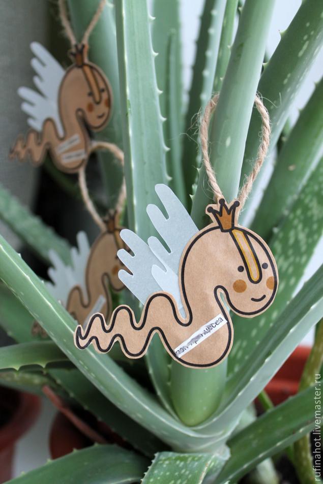 тильда-змейка, как украсить ёлку