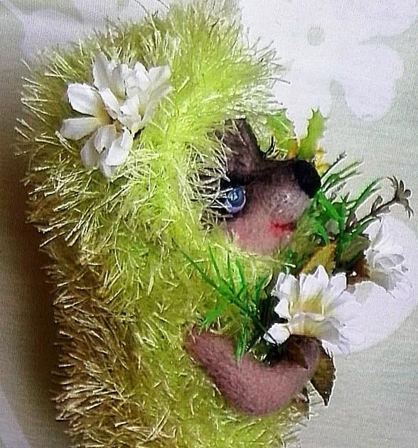 зеленый ежик