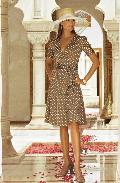 Платья с запахом с пышной юбкой