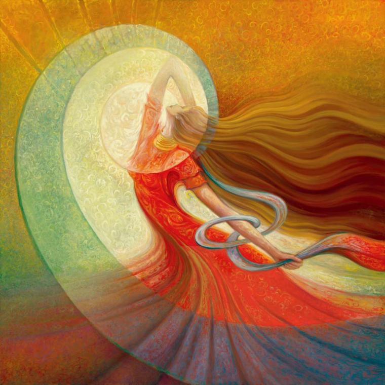 связь всех существ друг с другом, ощущение невидимой, текучей, волнистой