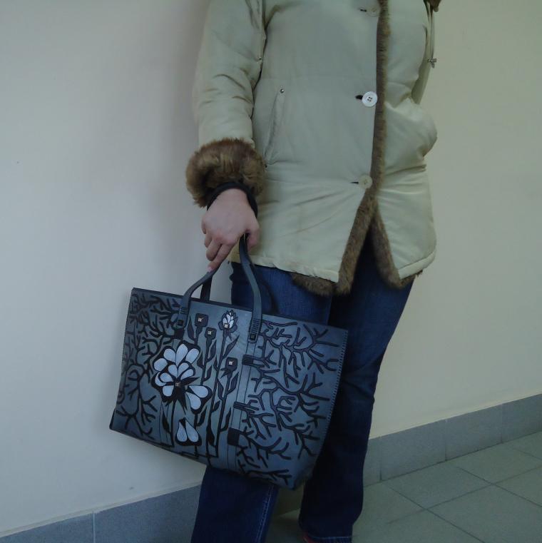 сумка ручной работы, серый