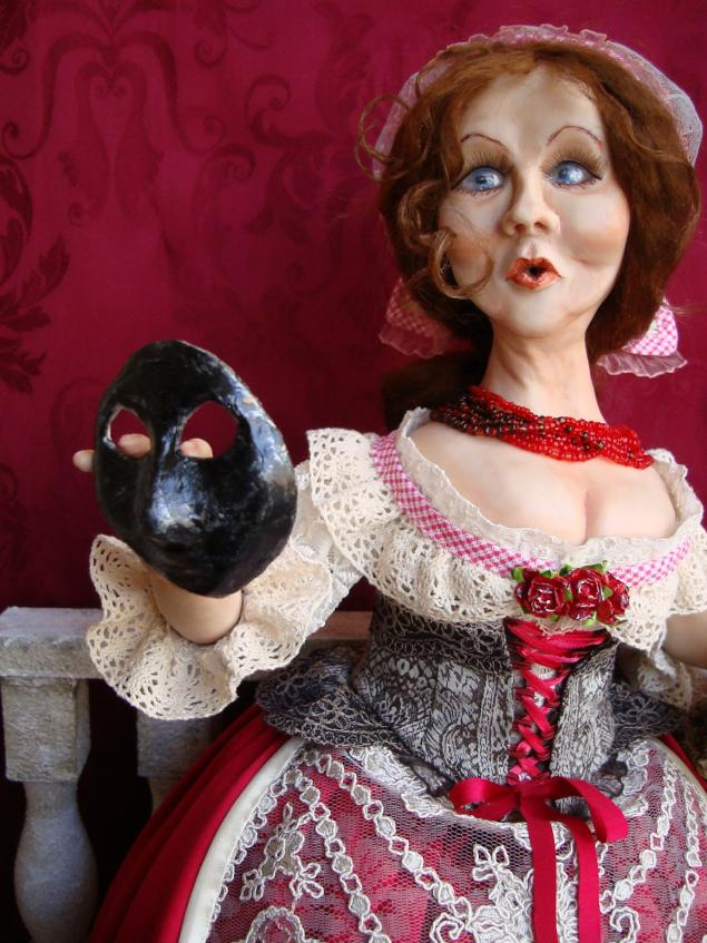 маска, кукла ручной работы