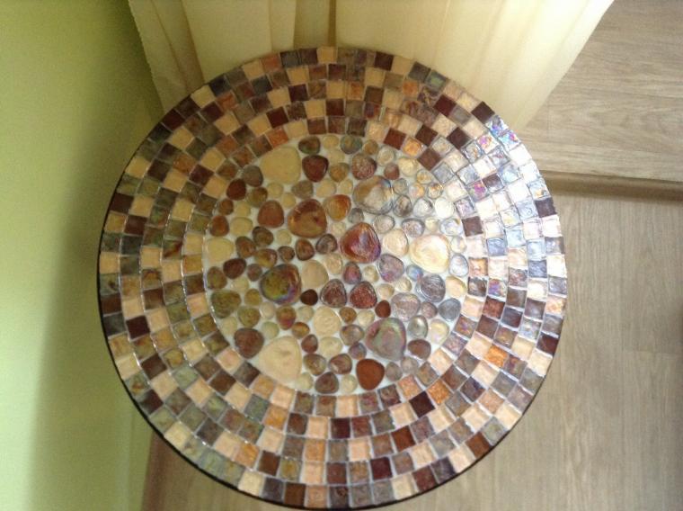 85Как сделать мозаичный столик мастер класс