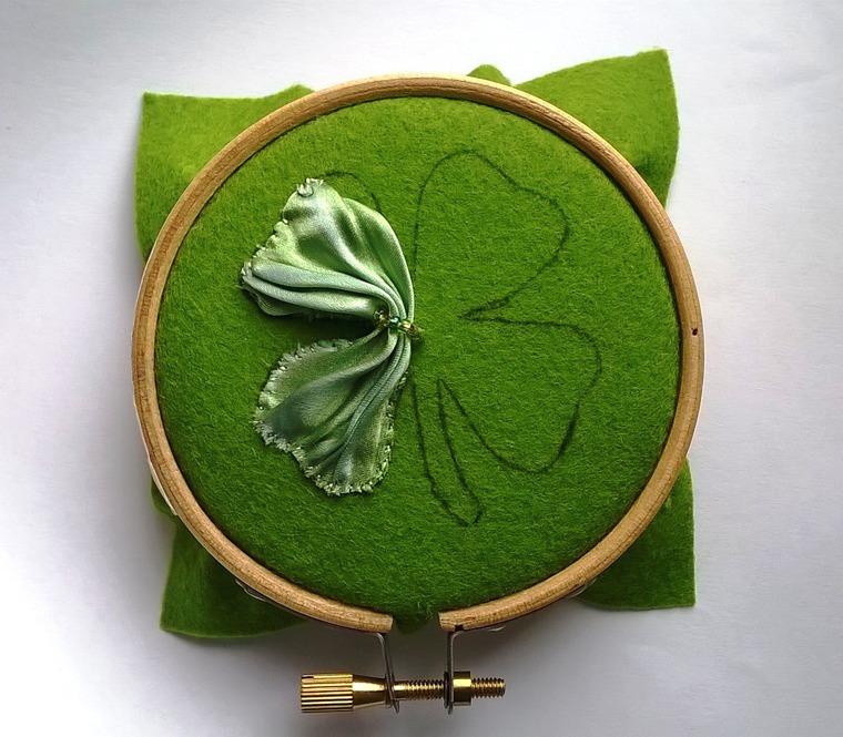 DIY on Creating a Cloverleaf Brooch for Luck, фото № 4