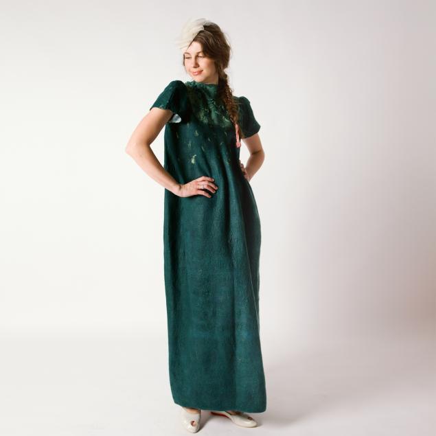 лена баймут, валяние, одежда
