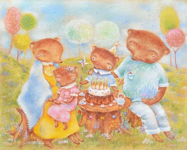 счастливые дни, медвежата