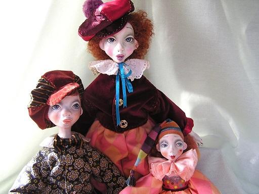 будуарная кукла, подвижная кукла, папье маше, интерьерная кукла