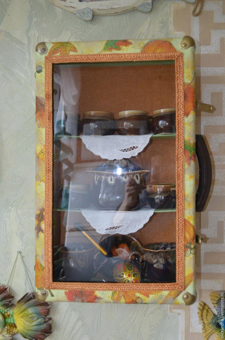 Старый чемоданчик превращается... в оригинальную полку, фото № 15