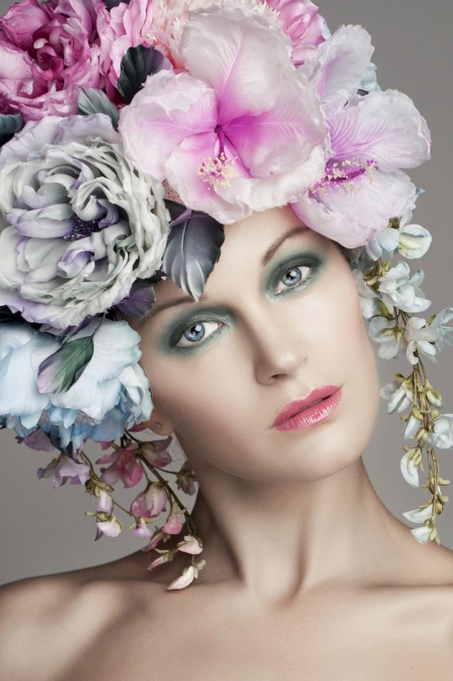 цветочная шапка