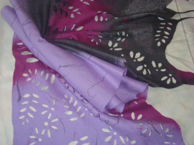 мастер-класс, валяние, шарфы, шарф, нуно-фелтинг
