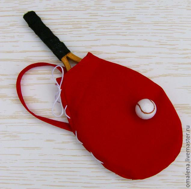 Теннисная ракетка для куклы своими руками