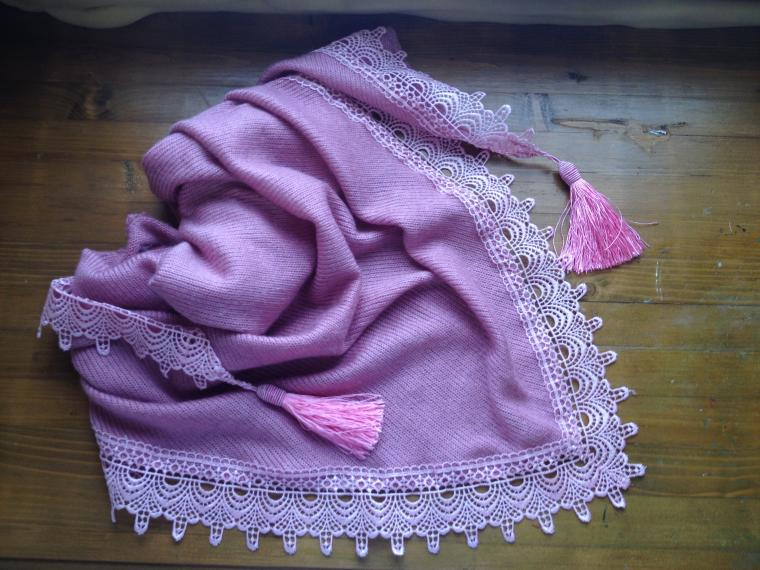 бактус, косынка, кружева, вязаный, милый, красивый шарф