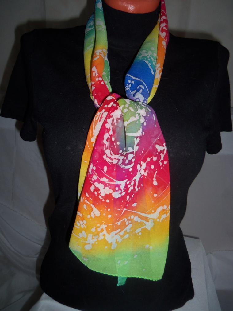 завязать шарф, ручная работа, элегантный стиль