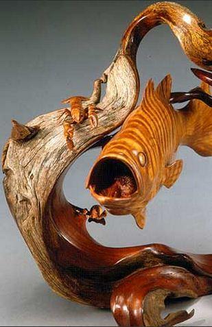 J. Christopher White.  Изящные деревянные скульптуры. Пятнадцатая