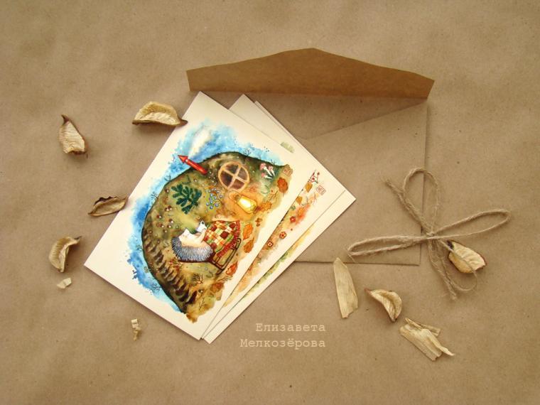 открытка, иллюстрация