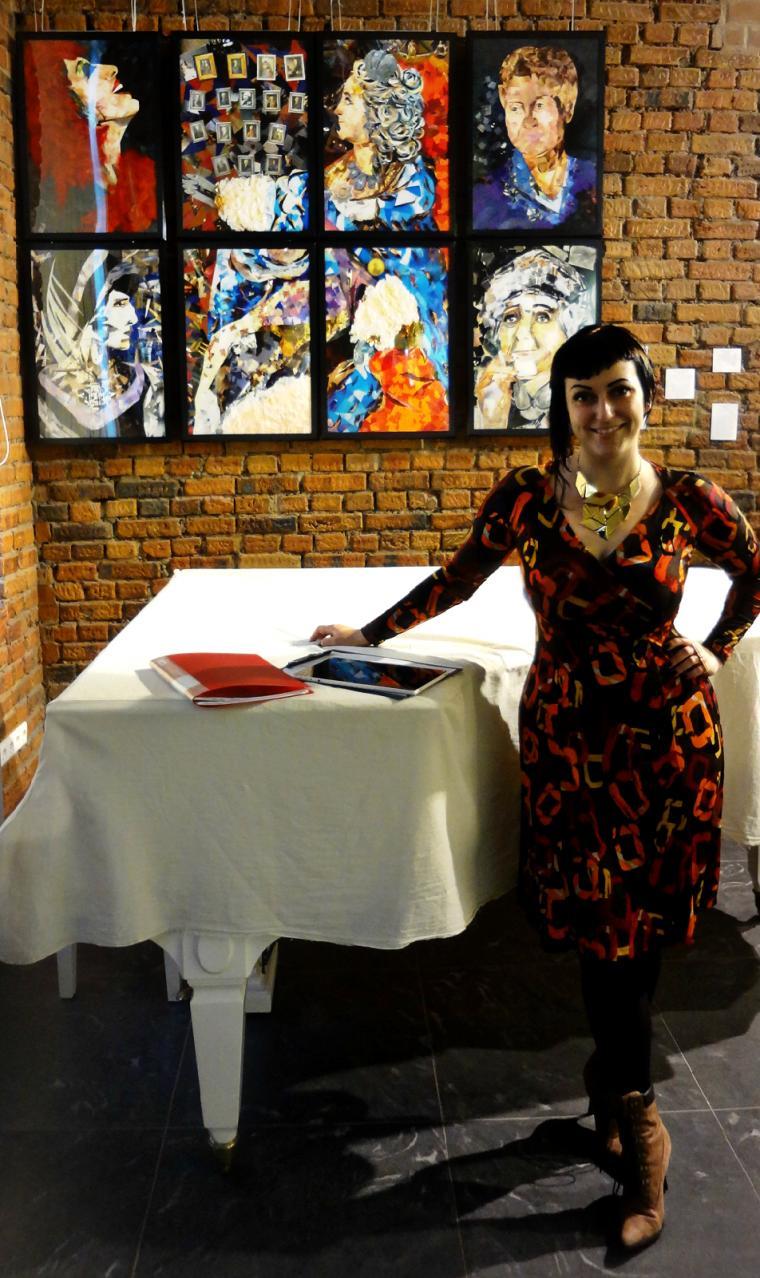 выставка, картина-коллаж