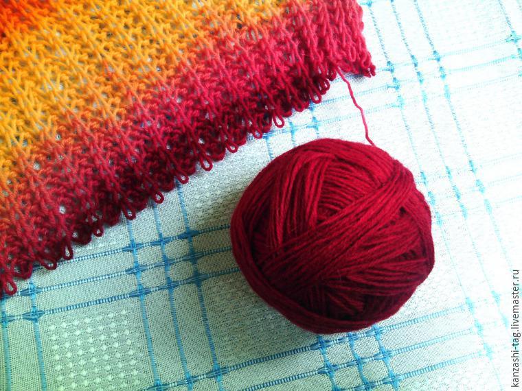 Красим старый шарф с помощью красителей для яиц, фото № 15