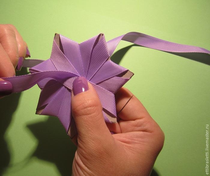 Собираем простой цветочек из ленты, фото № 7