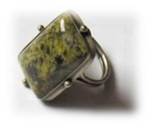 моховик, бижутерия с камнем