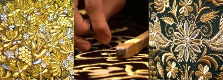 Схемы вышивки золотой нитью