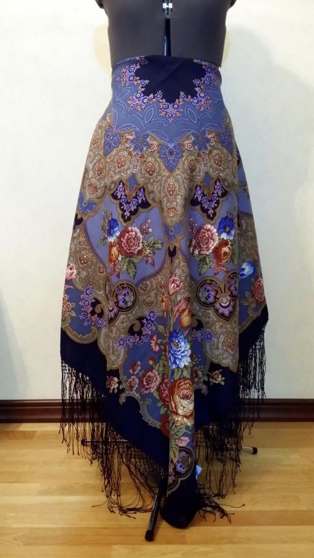 Сшить юбку из павлопосадского платка