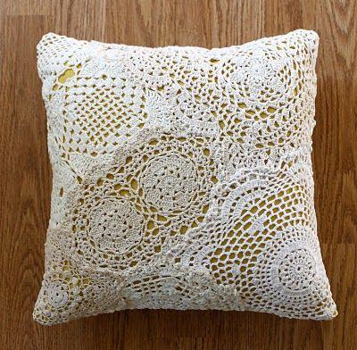 DIY Doilies cushion