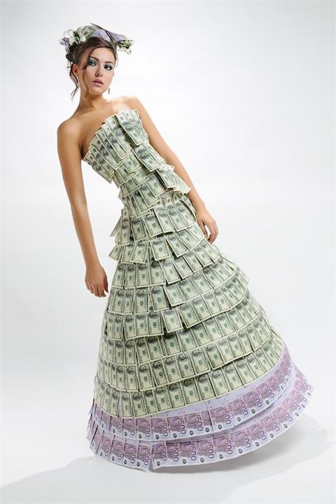 платье, женщина