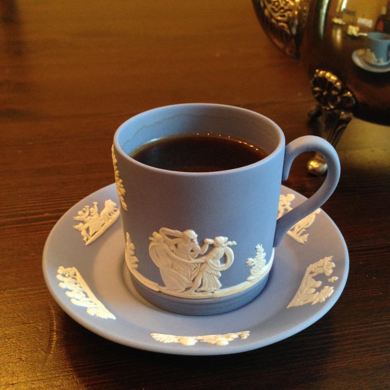фарфор, японский фарфор, голубой, английский стиль, винтаж, чайная пара, для чая