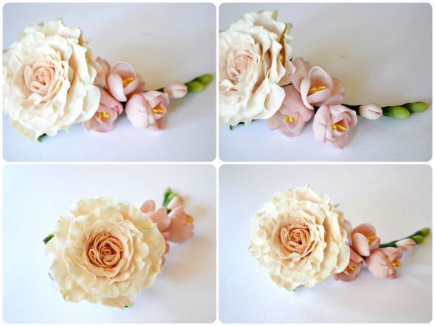 роза и фрезия